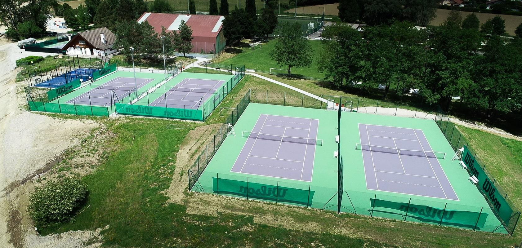 tennis club pringy annecy - vue aerienne
